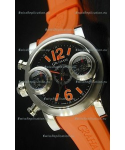 Graham Chronograph Swordfish Swiss Replica Watch in Orange Strap