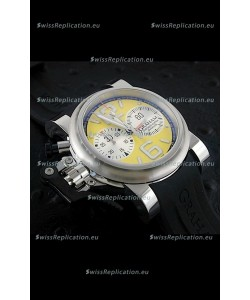 Graham Chronofighter Oversize Swiss Replica Watch in Yellow Dial