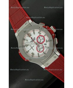 Hublot Big Bang Geneve Japanese Replica Watch in Aspen White Dial