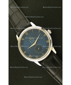 Omega DeVelie Co-Axial Chronometer Japanese Steel Watch in Dark Blue Dial