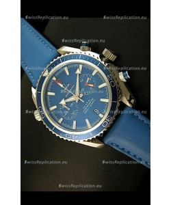Omega Seamaster The Planet Ocean Japanese Replica Watch in Blue