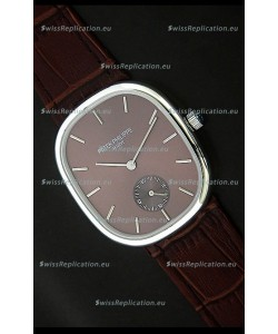 Patek Philippe Mens Golden Elipse Japanese Watch in Brown Dial