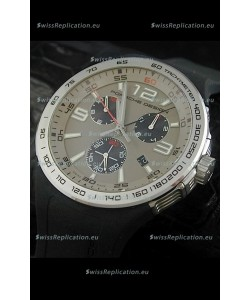 Porsche Design Flat Six P'6320 Japanese Watch in Grey Dial