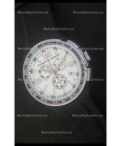Porsche Design Flat Six P'6320 Japanese Watch in White Dial