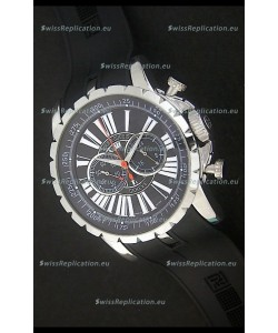 Roger Dubius Excalibur Chronoexcel Japanese Watch in Black Dial