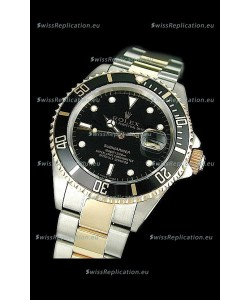 Rolex Submariner Japanese Watch in Black Bezel Two Tone Case