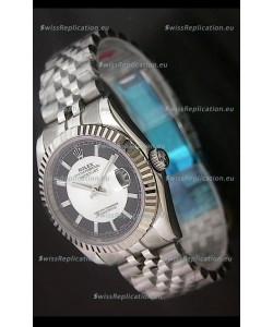 Rolex Datejust Oyster Perpetual Superlative ChronoMeter Replica Watch in Black & White Dial