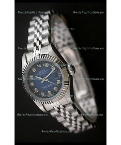 RolexDatejust Oyster Perpetual Superlative ChronoMeter Swiss Watch in Blue Dial