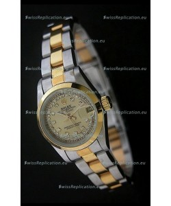 Rolex Datejust Oyster Perpetual Superlative ChronoMeter Swiss Gold Watch in Diamond Markers