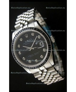Rolex Datejust Japanese Replica Automatic Watch in Black Dial