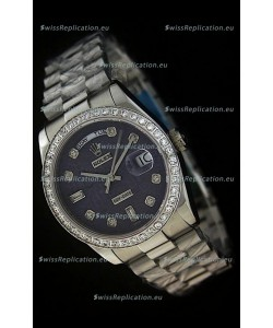 Rolex Day Date Just swissReplica Watch in Printed Purple Dial