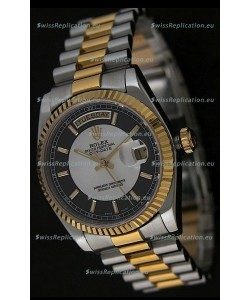 Rolex Day Date Just swiss Replica Two Tone Gold Watch