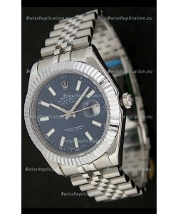 Rolex DateJust Japanese Replica Watch in Blue Dial