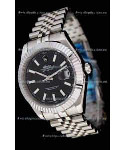 Rolex DateJust Japanese Replica Watch in Black Dial