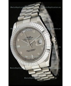 Rolex Oyster Perpetual Day Date Japanese Replica Watch in Grey Dial