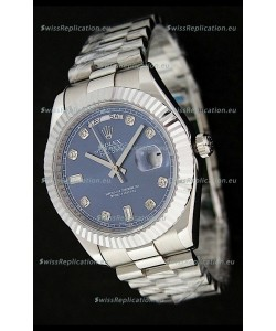 Rolex Oyster Perpetual Day Date Swiss Replica Watch in Dark Blue Dial