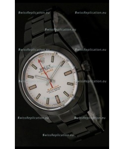 Rolex White Milgauss Black-Out Swiss Replica Watch