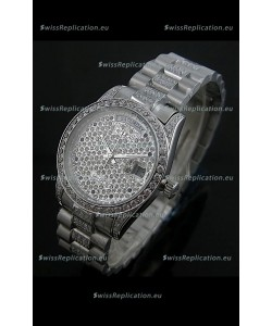 Rolex Day Date Japanese Automatic Replica Watch in Diamonds Dial