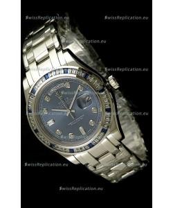 Rolex Oyster Perpetual Day Date Swiss Automatic Watch in Midnite Blue Dial
