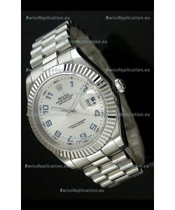 Rolex Replica Datejust Mens Japanese Watch in Arabic Numerals Dial - 41MM