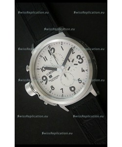U-Boat Flightdeck Steel Watch in White Dial
