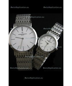 Vacheron Constantin Classical Couple Japanese Steel Watch