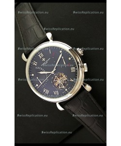 Vacheron Constantin Reserve Tourbillon Japanese Replica Watch in Black Dial