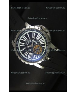 Roger Dubuis Excalibur Tourbillon Watch Japanese Movement - Black Dial