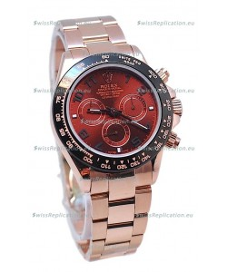 Rolex Daytona Chronograph MonoBloc Cerachrom Bezel Swiss Replica Rose Gold Plated Watch