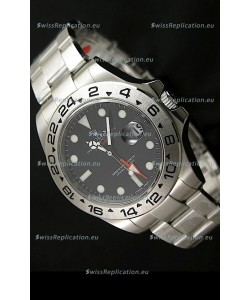 Rolex Explorer II Swiss Replica Automatic Black Steel Watch 43MM
