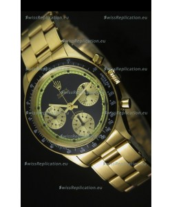 Rolex Daytona 6263 Cosmograph Black Dial in Gold Case
