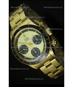 Rolex Daytona 6263 Cosmograph White Dial in Gold Case
