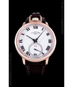 Chopard Louis-Ulysse The Tribute Rose Gold White Dial Swiss Watch