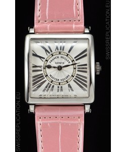 Franck Muller Master Square Ladies Pink Strap 1:1 Mirror Replica Watch