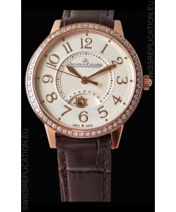 Jaeger-LeCoultre Rendez-Vous Rose Gold Night & Day Medium 1:1 Mirror Swiss Watch