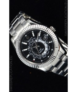 Rolex SkyDweller Swiss Watch in Steel Case - DIW Edition Black Dial