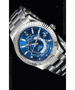 Rolex SkyDweller Swiss Watch in Steel Case - DIW Edition Blue Dial