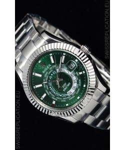 Rolex SkyDweller Swiss Watch in Steel Case - DIW Edition Green Dial