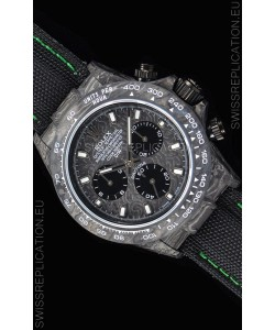 Rolex Daytona DiW Forged Cabon Casing 1:1 Mirror Replica with Nylon Strap