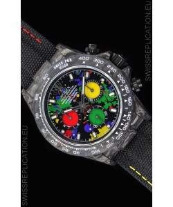 Rolex Daytona DiW Forged Cabon Casing 1:1 Mirror Replica Multicolored Dial