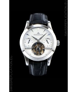 Jaeger LeCoultre Perpetual Tourbillon 904L Steel Case White Dial Swiss Replica Watch