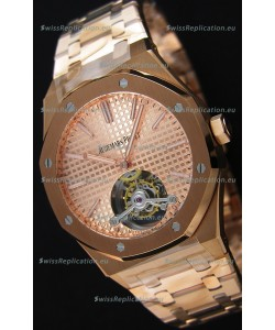 Audemars Piguet Royal Oak Tourbillon 41mm Extra-Thin Pink Gold Dial Watch