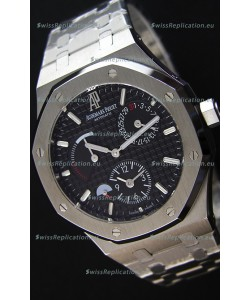 Audemars Piguet Royal Oak Dual Time Swiss Replica Watch in Black Dial
