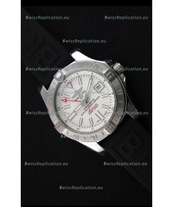Breitling Avenger II GMT Swiss 1:1 Mirror Replica Watch in White Dial