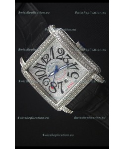 Franck Muller Conquistador King Automatic Swiss Replica Watch in Stainless Steel