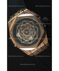 Hublot Big Bang Sang Bleu 45MM Rose Gold Swiss Replica Watch