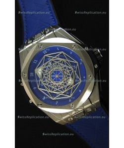 Hublot Big Bang Sang Bleu 45MM Stainless Steel Blue Dial Swiss Replica Watch