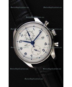 IWC Portugieser Chronograph Classic IW390302 White Dial Swiss Replica Watch
