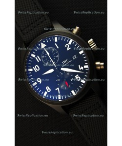 IWC Pilot's Top Gun Chronograph IW389001 1:1 Ceramic Case Ultimate Mirror Replica Watch