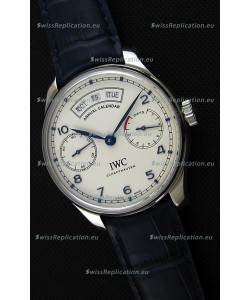 IWC Big Pilot Annual Calender Steel Case Blue Strap IW503501 1:1 Mirror Replica